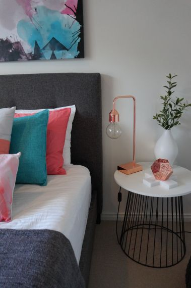 Loving this bed from Super Amart and colour scheme