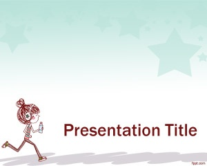 Motion PowerPoint Template - Running is one of the best exercise that will make you feel light and is easy on the pocket because it's free and you can do it anywhere. Like this ppt template free to download and use it for any purpose or occasions.