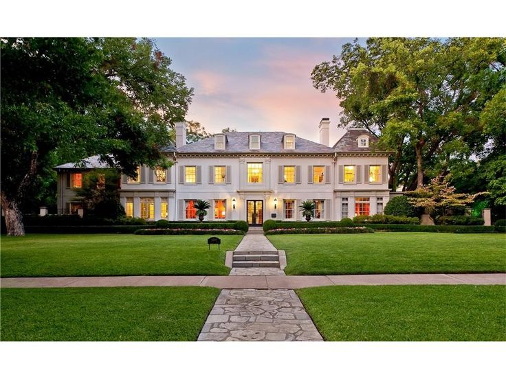 4248 Armstrong Parkway, Dallas, Texas. Anton Korn was the architect. John Astin Perkins designed the interiors, much of which is still evident. The main home of 8,004 square feet was built in 1924.