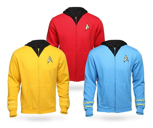 Star Trek Original Series Uniform Hoodies $59.99