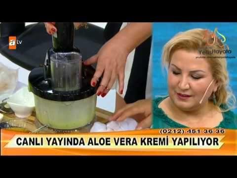 Aloe Vera Kremi Nasıl Yapılır? Doğal Aloe Vera Yaşlanma Karşıtı Nemlendirici Bakım Kremi Hazırlanışı - YouTube
