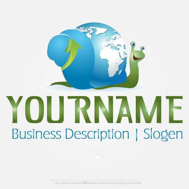 LogoMaker – Create Logo Online – Snail Globe Logo Design