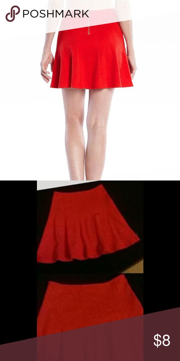 GUESS red skater skirt. Red skater skirt with gold zipper on the back Guess Skirts Circle & Skater