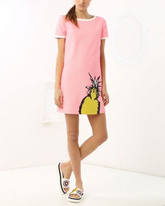 Mini dress with pineapple detail Iceberg #Iceberg #pink #pineapple #fashion #style #stylish #love #socialenvy #me #cute #photooftheday #beauty #beautiful#instagood #instafashion #pretty #girl #girls #styles #outfit #shopping