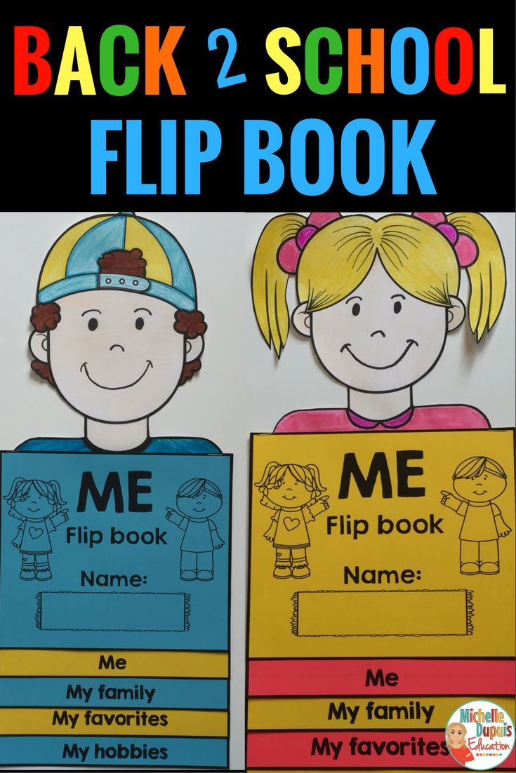 Get to know your students with this adorable *All About Me Flip Book*. This All about Me Flip Book is a great way to get to know your students. It's perfect for Back to School. This self-reflection booklet will allow your students to share information about themselves. Flip books are so much fun and students can be creative.