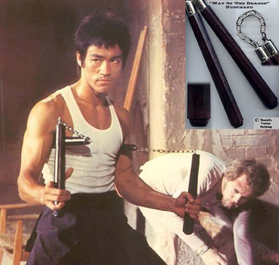 bruce lee and nunchucks | The Way of the Dragon Nunchaku is available in three woods: Black ...