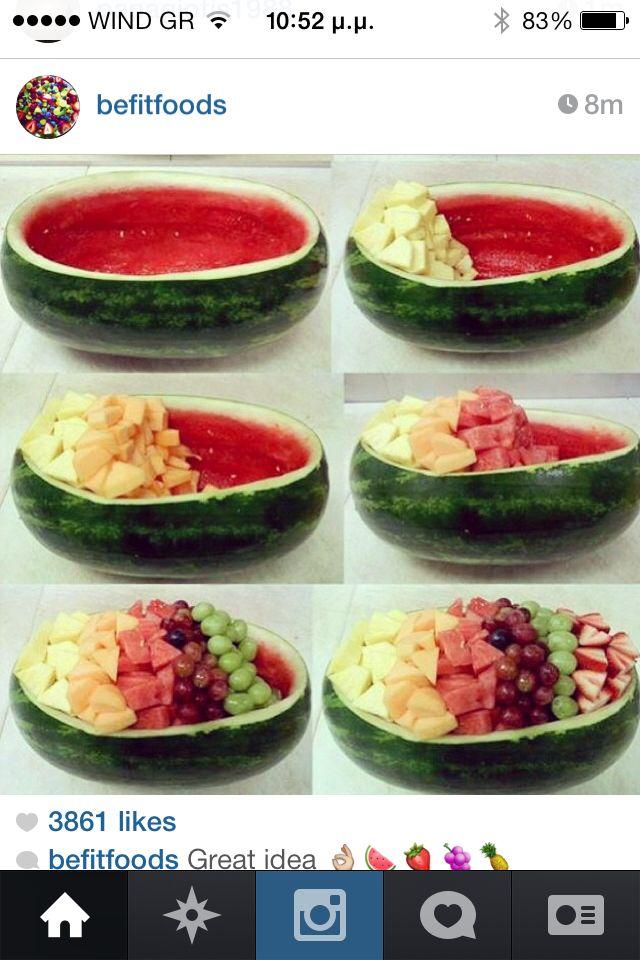 Water melon bowl #fruitsAlad