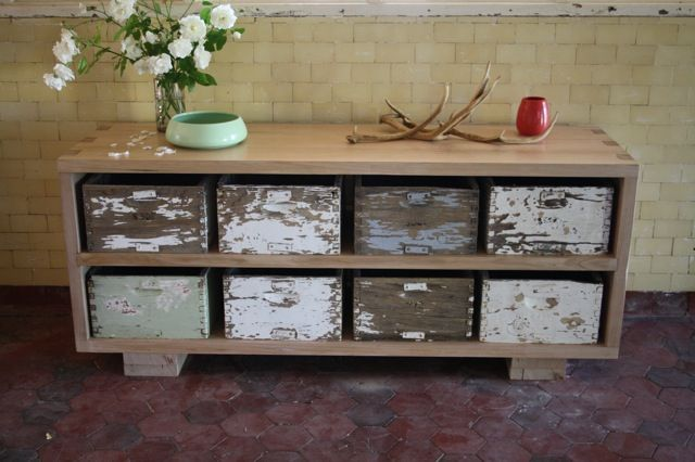 Upcycled Bee Box Sideboard | Bee boxes, Bees and Drawer ...