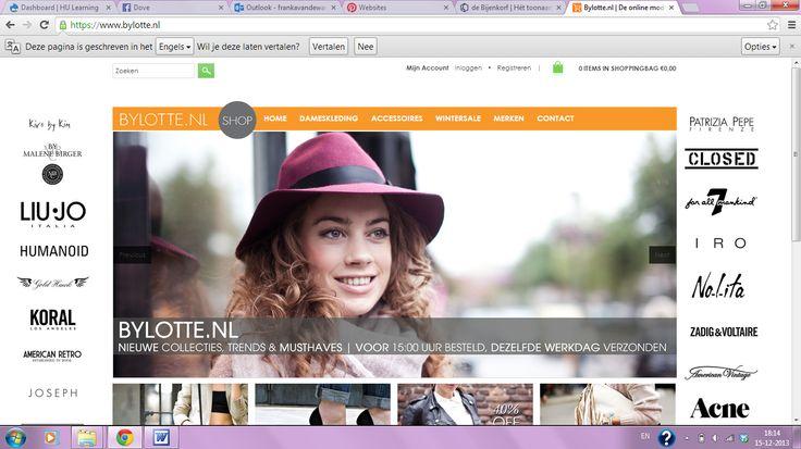 Franka - By Lotte. Sterk: Veel te vinden op de home pagina. Zwak: Teveel informatie, merken aan de zijkanten, zorgt voor afleiding.