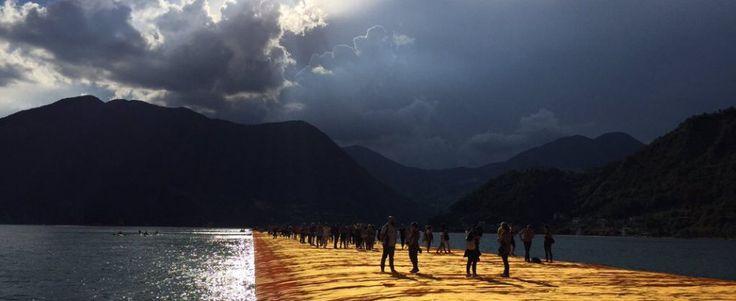"""Lago d'Iseo, Christo: """"L'attesa è parte della mia opera, o avete pazienza o non venite"""""""
