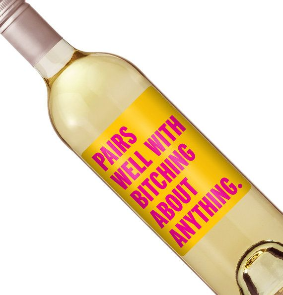 Funny Wine Label Custom Wine Bottle Labels by iCustomWine                                                                                                                                                                                 More