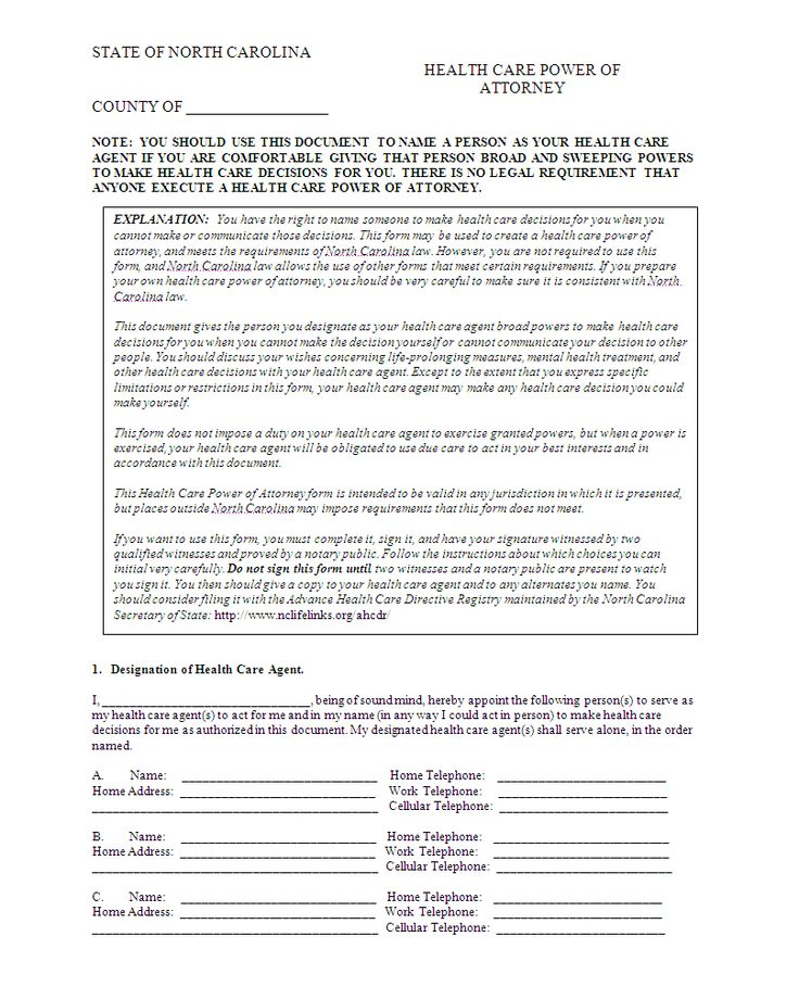 Power Of Attorney Template Printable  Power Of AttorneyHealth