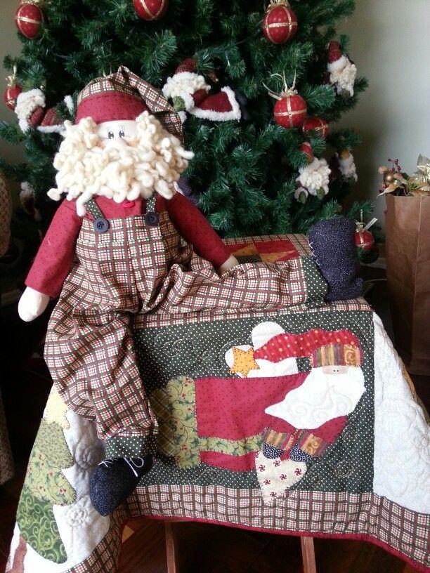 Papai Noel e toalha de Natal