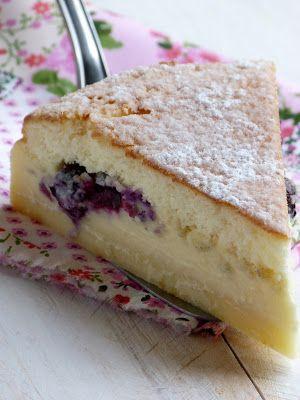 Gâteau magique aux myrtilles et au citron