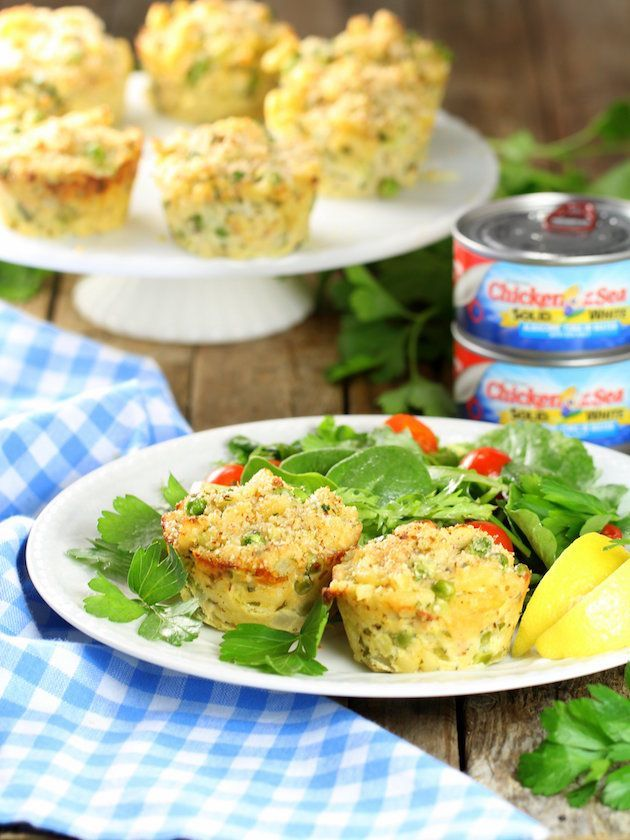 Healthy Tuna Casserole Muffins - just like mom used to make, but in handy little muffin cups perfect for meals on the go, or those little fingers to navigate!  http://tasteandsee.com