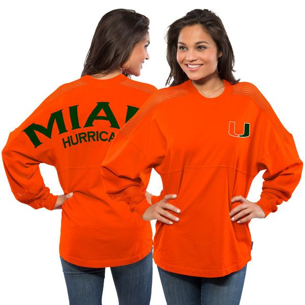 Women's Miami Hurricanes Sport Mesh Spirit Jersey - Orange - $64.99