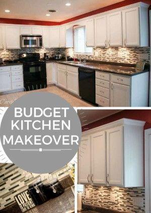 Diy Kitchen Remodel On A Budget best 25+ budget kitchen makeovers ideas on pinterest | cheap