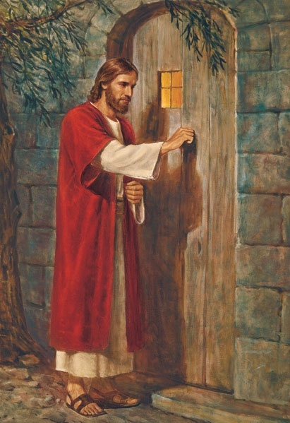 """God's Son, our Savior and Redeemer, speaks to each of us today: 'Behold, I stand at the door, and knock: if any man hear my voice, and open the door, I will come in to him' (Revelation 3:20). Will we listen for that knock? Will we hear that voice? Will we open that door to the Lord, that we may receive the help He is so ready to provide? I pray that we will."" –Thomas S. Monson www.facebook.com/pages/The-Lord-Jesus-Christ/173301249409767"