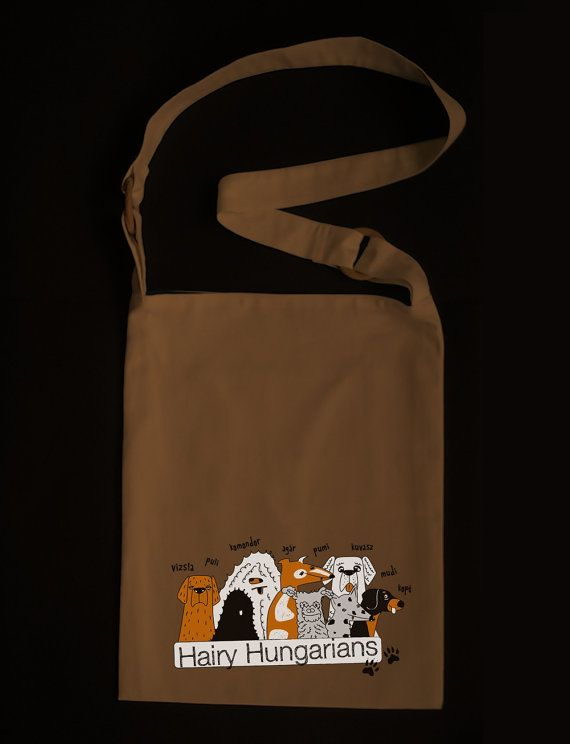 Hairy Hungarians  tote bag with famous Hungarian dog by Puppytee