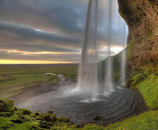 Seljalandsfoss Waterfall, IcelandWater, Iceland, National Geographic, Beautiful, Shower, Places, Amazing Nature, Landscapes Photography, Landscapes Pictures