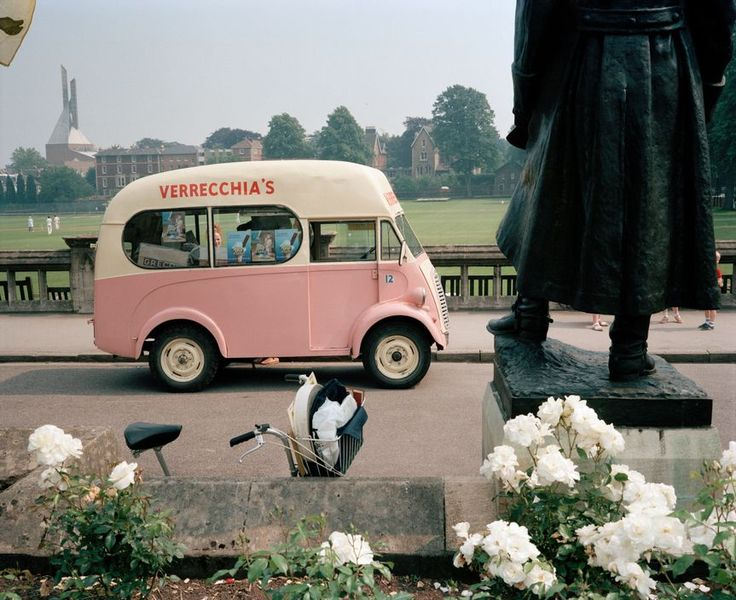 Martin Parr. GB. England. Bristol. Clifton. An Ice Cream van. 1987