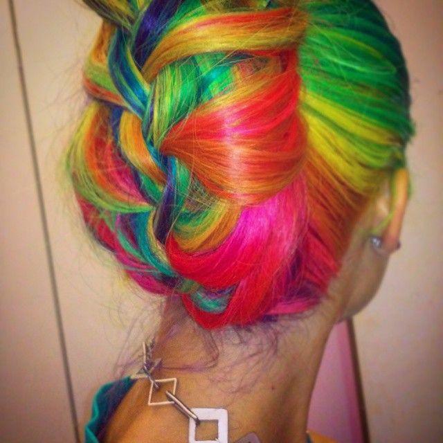 Neon Rainbow Braid
