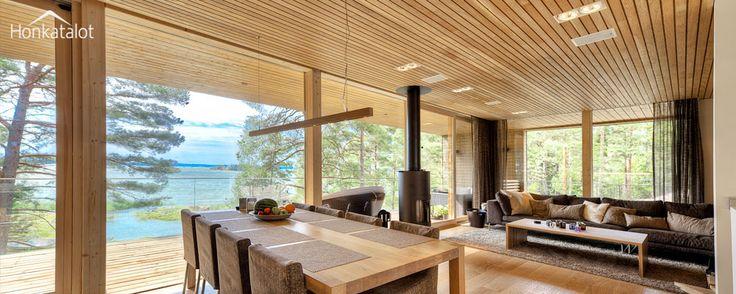 Yksilöllinen ja moderni huvila, Plushuvila | Modern wooden villa - Honkatalot.fi