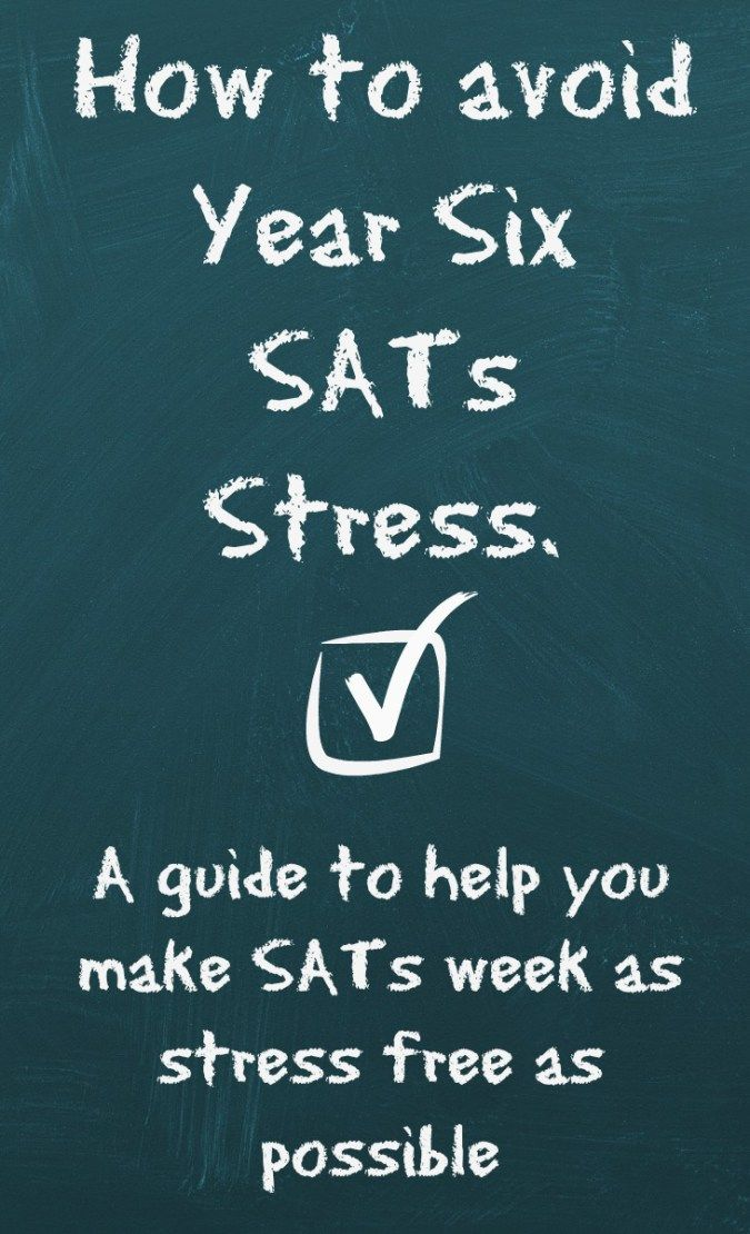 How to avoid year six sats stress!    This week is the start of the SATs tests across the UK and if you have a child in Year 6 (or in Year 2) then your child is about to be tested across a number of subjects.  Some schools are great and don't place importance on these tests but if yours does, then this is a great guide for making the week easier on your children!