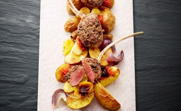 Lammkotelett mit Oliven_Kräuterkruste