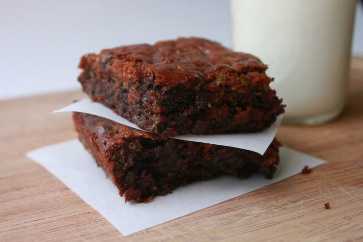 Flourless Zucchini Brownies  @Delighted Momma