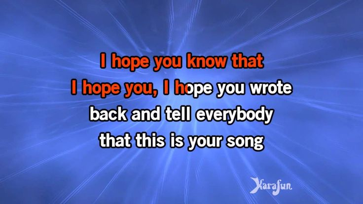 Download MP3: http://www.karaoke-version.com/mp3-backingtrack/billy-paul/your-song.html Sing Online: http://www.karafun.com/karaoke/billy-paul/your-song/ * T...
