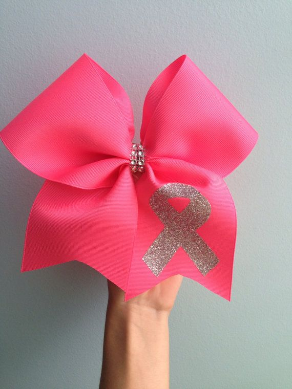 Breast Cancer Awarness Cheer Bow