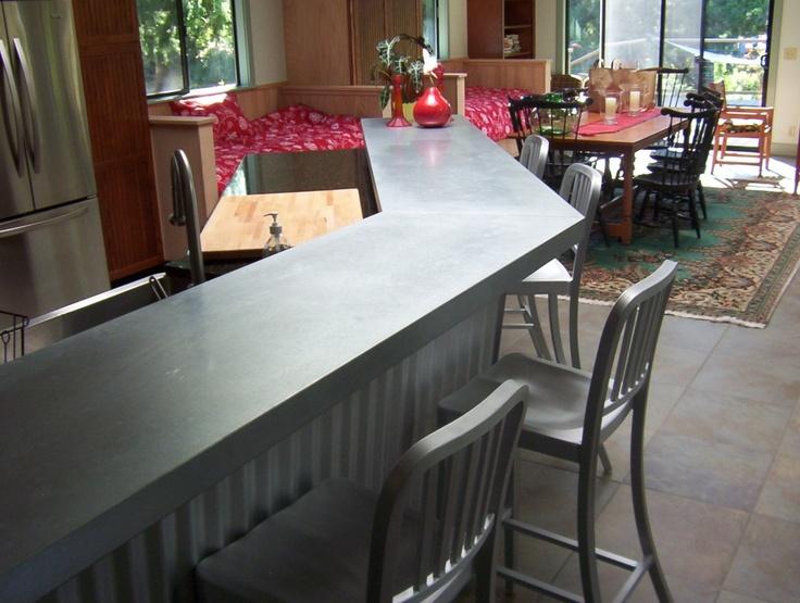 Galvanized Countertops Metal Countertops Galvanized