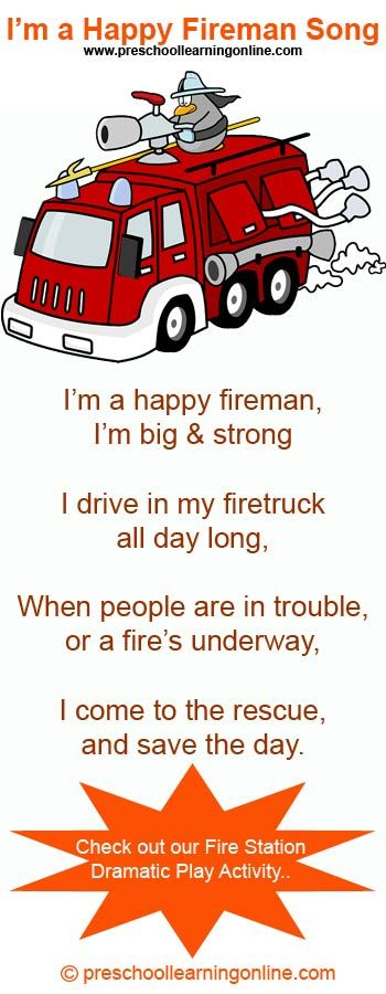 The Happy Fireman Song for preschoolers. A fun song for preschoolers learning…