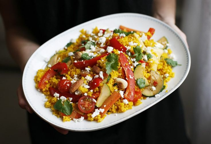 Saffron Bulger with Roasted Vegetables