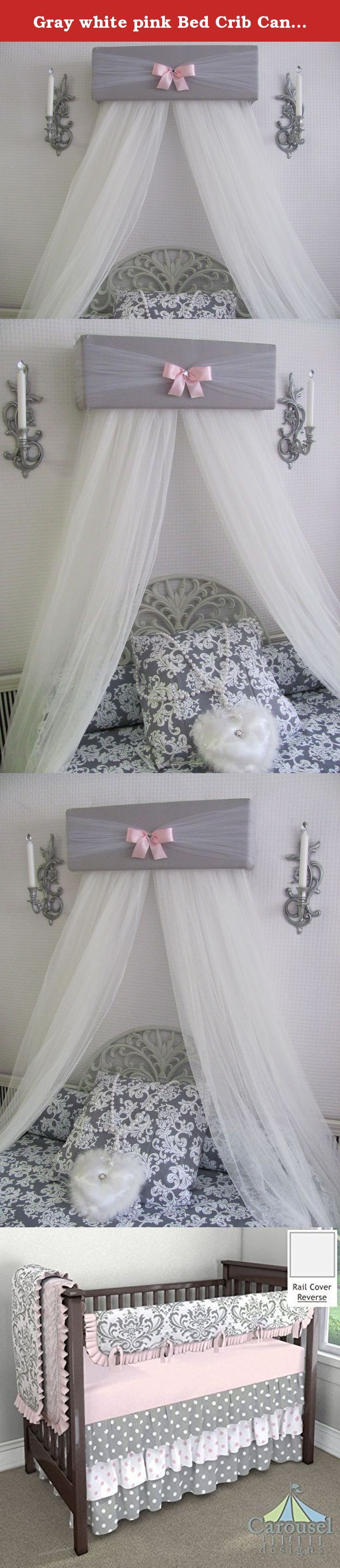 Crib for sale davao - Gray White Pink Bed Crib Canopy Free White Curtains Custom Made Sale So Zoey Boutique Designs