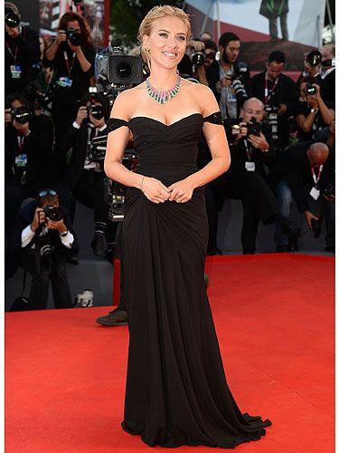 Scarlett Johanssen Black Dress