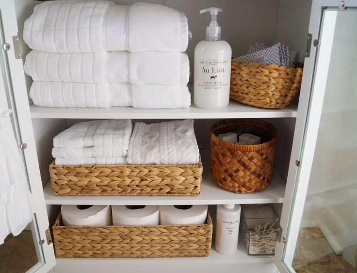Don't Disturb This Groove: Small-Bathroom Linen Cabinet
