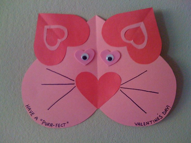 Valentine's craft for kids, easy craft for preschooler. heart craft, valentine craft