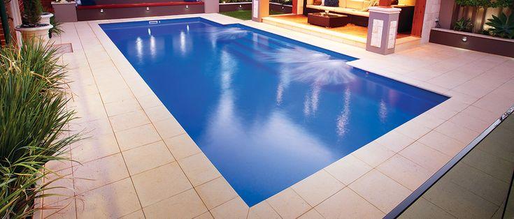 Regal - 9.25m x 4.4m, 1.0m - 2.0m depth. http://www.sapphirepools.com.au/swimming-pools/regal/