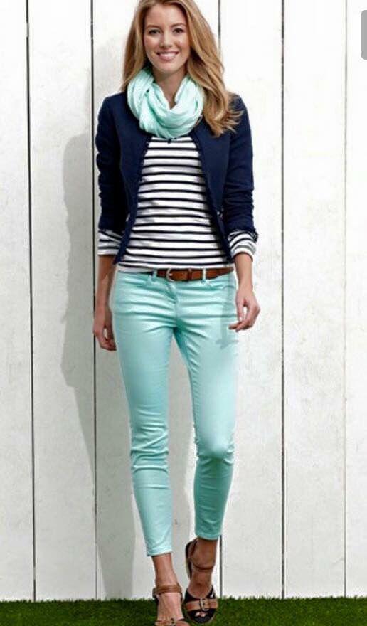 Best 20  Mint capris ideas on Pinterest | Mint jeans outfit, Mint ...