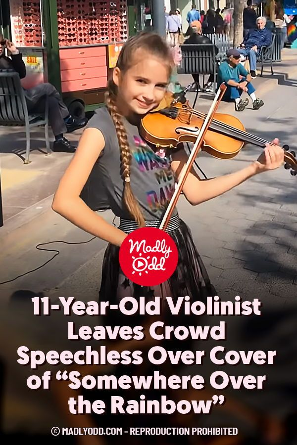 11 Year Old Violinist Leaves Crowd Speechless Over Cover Of Somewhere Over The Rainbow In 2020 Violinist Singing Videos General Knowledge Book