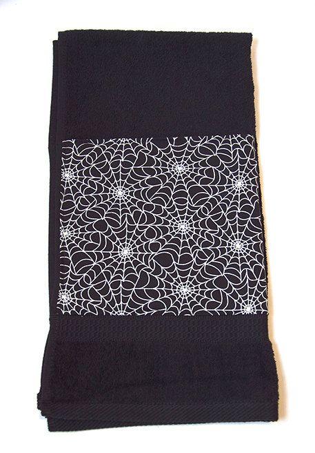 Black Spider Web Cobweb Glow in the Dark Gothic by Pornoromantic