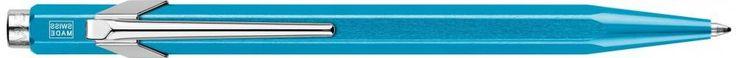 Шариковая ручка автоматическая Caran D'Ache Office Popline Metal-X синий M