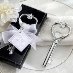 Key To My Heart Bottle Opener Wedding Favour