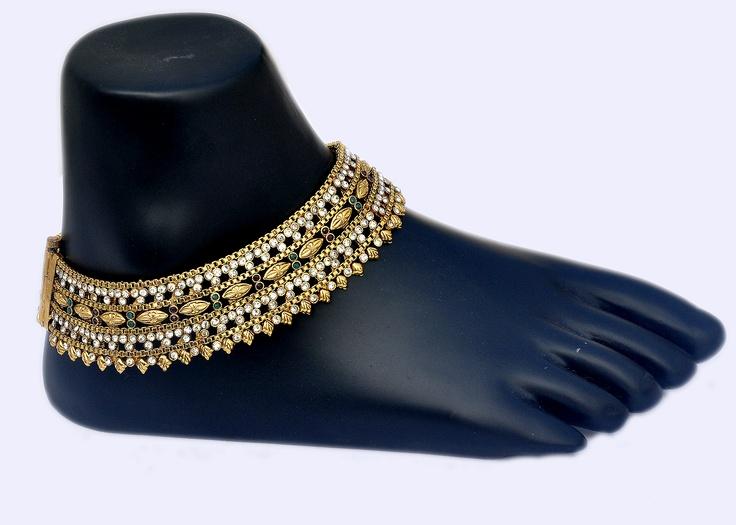 Vintage South Indian Intricate Design Anklets !