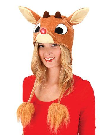 Look what I found on #zulily! Rudolph the Red-Nosed Reindeer Light-Up Hoodie Hat #zulilyfinds