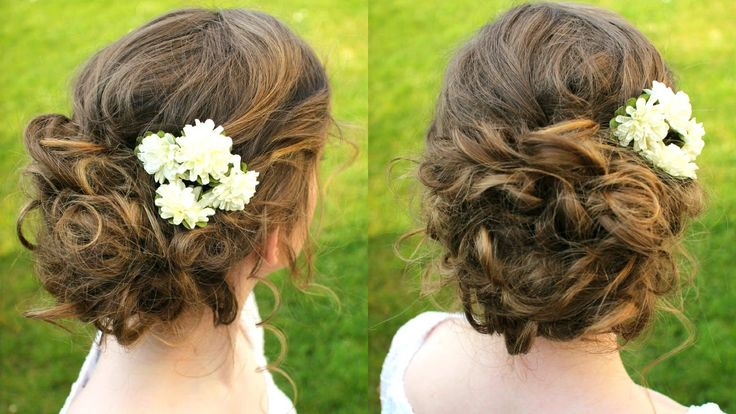 How to :  Curly Updo Hair Tutorial | Boho Updo