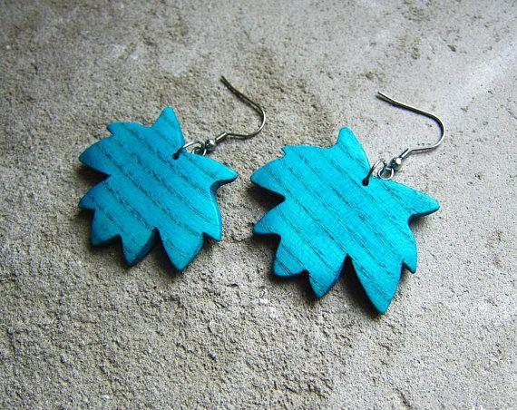 Maple leaf earrings earrings wood maple wood maple