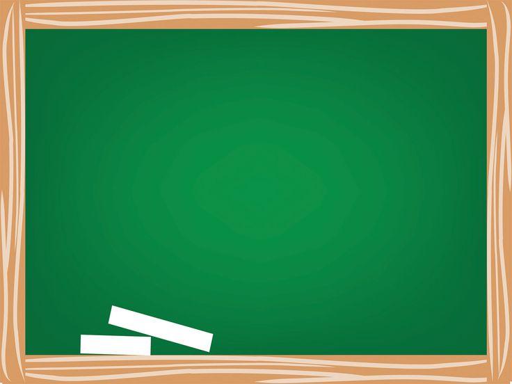 Green School Board Powerpoint Templates